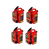 Surecan Self Venting Easy Pour Nozzle 5 Gallon Flow Control Gas Container, Red (4 Pack)