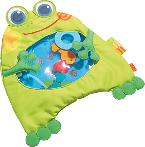 HABA Little Frog Water Play Mat Tummy Time Activity with Machine Washable Cover