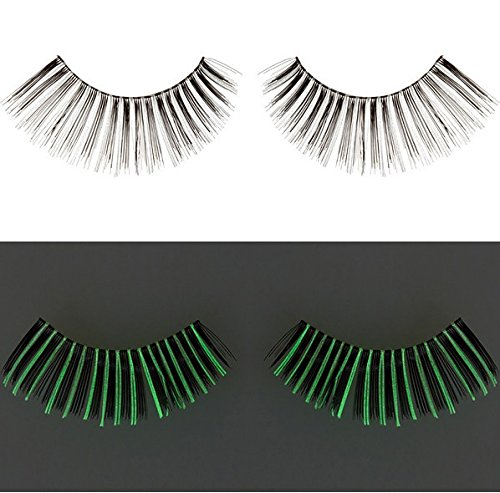 Zinkcolor False Synthetic Eyelashes G234 Glow In The Dark Dance Halloween -