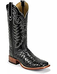 9090 Tony Lama Mens FQ Ostrich 13IN Western Boots - Black