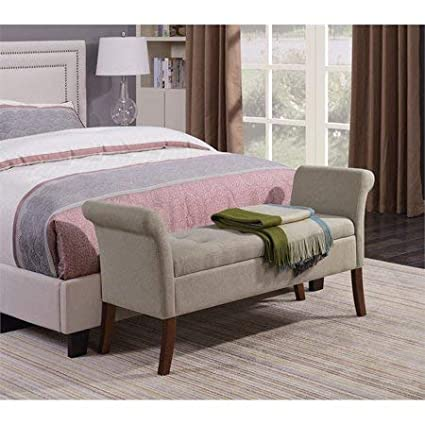 Amazon.com: End of Bed Storage Bench-Bedroom Benches at Foot ...