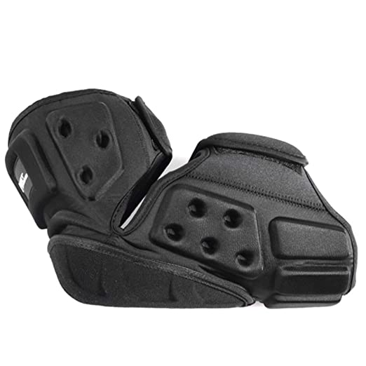 Lioobo Knee Pads Motorcycle Unisex Adjustable Long Leg Cuff Gear Crashproof Non Slip Protection Shin Pads For Motorcycle Mountain Bike Black Business Industry Science