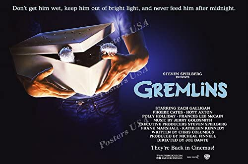 """NEW GREMLINS Movie Poster /""""24 x 36/"""" Don/'t Get Him Wet // Don/'t Feed Him"""
