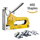 Staple Gun Tacker & Remover Set Heavy Duty 3 Way Staple Gun Tool Kit Carbon Steel 3-in-1 Hand Operated Nailer with 400 Staples and A PAIR OF Gloves
