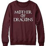 Mother of Dragons Sweatshirt GOT Pullover - Unisex, Maroon, Medium