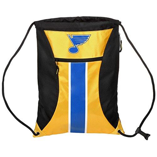(St. Louis Blues Big Stripe Zipper Drawstring Backpack)