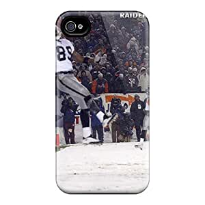 High Quality Mobile Cases For Iphone 4/4s With Allow Personal Design HD Oakland Raiders Skin InesWeldon