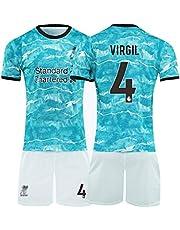 Voetbal shirt 4# Virgil Van Dijk Voetbal Pak, Volwassen, Kind Trainingspak, Ademende Sport Korte Mouwen, Standaardmaat