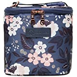 Sarah Wells Cold Gold Breastmilk Cooler Bag (Le Floral) with Ice Pack