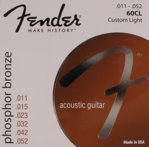 Fender Acoustic Guitar Phosphor Bronze Light Ball End, .011 - .052, 60CL