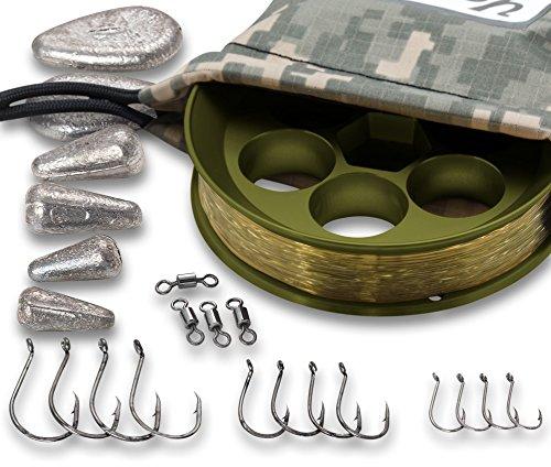 Yoyito Freshwater Aluminum Hand Line Reel Pocket Emergency Survival Fishing Kit (OD...