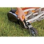 Fiskars staysharp max reel mower 10 the smart design of reel mower offers a cleaner cut without the hassles of gasoline, oil, battery charging, electrical cords or loud engine noise a combination of advanced technologies make the staysharp plus reel mower 40-percent easier to push than other reel mowers patent-pending inertia drive reel delivers 75-percent more cutting power to blast through twigs, weeds and tough spots that would jam other reel mowers