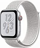 Apple Watch Series 4 (GPS+Cellular) Aluminum Case Unlocked Compatible with iPhone 5s and Above (Nike+ Edition Silver Aluminum Case with Summit White Nike Sport Loop, 44mm)
