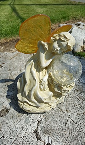 - GSL SS-GSL-F5127C Fairy Color Changing Ball Solar Light, 10.25