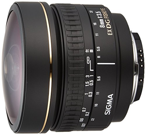 Sigma 8mm f/3.5 EX DG Circular Fisheye Fixed Lens for Nikon SLR Cameras - International Version (No Warranty)