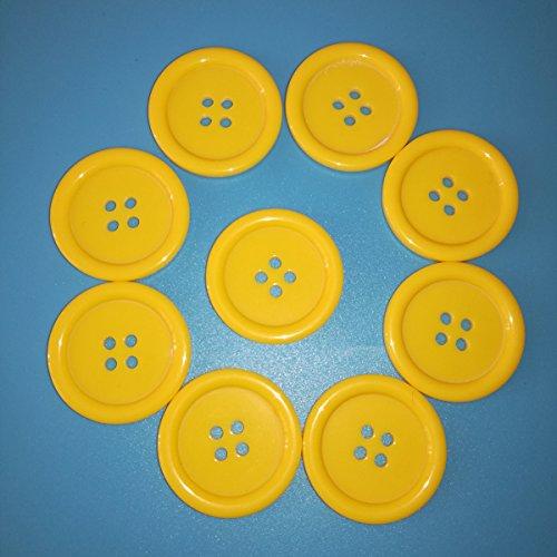 100pcs-28mm-diameter-costura-round-resin-4-holes-sewing-buttons-botones-bottoni-legno-natural-yellow