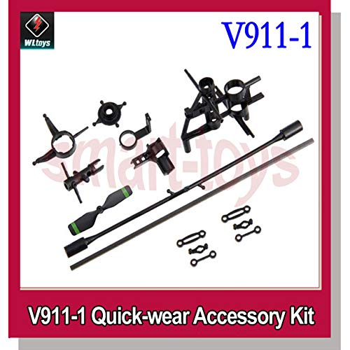 (Yoton Accessories V911 Quick-wear Accessory Kit Main Frame SwashPlate Tail Blade flybar Tail Boom Tail Motor Seat Central Shaft - (Color: v911 V1))