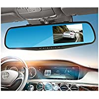 MeHuiLe 4.3-inch Dual Lens Dash Cam Car Video Records Rearview Mirror L80S 145 Viewing Angles 1080P FHD G-sensor Motion Detection Parking Monitor Fit All VEHICLES