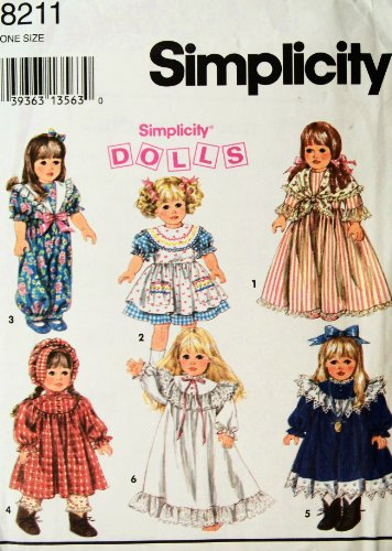 Clothing Doll Simplicity (Simplicity 8211 Doll Clothing Pattern)