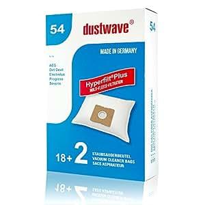 20Bolsas de aspiradora Adecuado para Quigg–BS 1601Turbo Aspiradora/dustwave® Marca Bolsa para el polvo/Fabricado en Alemania + Incluye Micro filtro