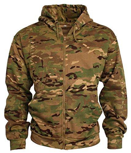 Universale Scegliere Cappuccio8 Cappuccio Terrain Cerniera Stile maglia Con Felpe Adulti Colori Combattimento Mimetici Da Militare 92eEDIYWHb
