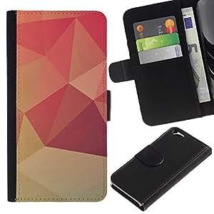 KingStore / Leather Etui en cuir / Apple Iphone 6 / Dise?o Polgon Naranja