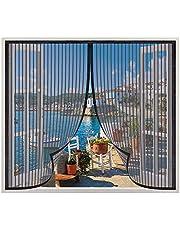 Insectenwerende magneetvenster 85x100cm,vliegenhor voor ramen,Wasbaar Gaas/Verstelbaar Insectennet,gemakkelijk te monteren zonder boren