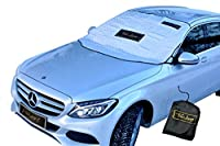 "Magnetic Windshield Cover Sun Shade Snow Rain Ice Wind Premium Protector - Extra Large 60"" x 50"" & Anti-Theft, Fits Most Car, SUV, Mini-Vans, Pick-Up Trucks Or Even Small RV (by TacLuxe)"