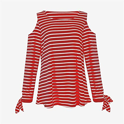 Chemisier Tops Automne V Rouge Blouse Wolfleague Chemises XL LGantes Manches IrrGulier T Longues Femme Shirt Col Jupes Blouse Casual Ray S Tops tn8tZAwqg