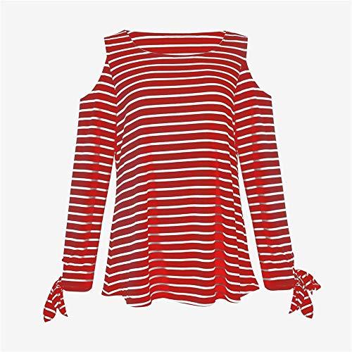 Casual Automne S Col Shirt Tops LGantes T IrrGulier Wolfleague V Chemises Jupes Femme Manches XL Chemisier Longues Ray Rouge Tops Blouse Blouse gxpHIBq