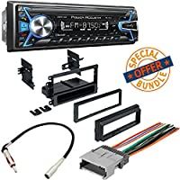 Power Acoustik 1-DIN With 32GB USB/SD/AUX/Bluetooth +Single DIN Installation Dash Kit for Select 1995-2008 GM/Chevrolet/Honda/Isuzu/Suzuki Vehicles