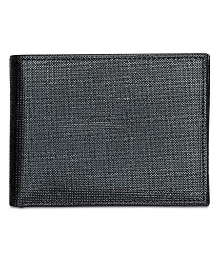 - Perry Ellis Men's RFID Saffiano Textured Bifold Wallet, black, 1sz