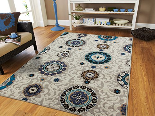 New Small Rug For Kitchen 2 by 3 Area Rugs Modern Flowers 2x4 Contemporary Rug Grey Blue Beige Navy Black Foyer Rugs 2x3