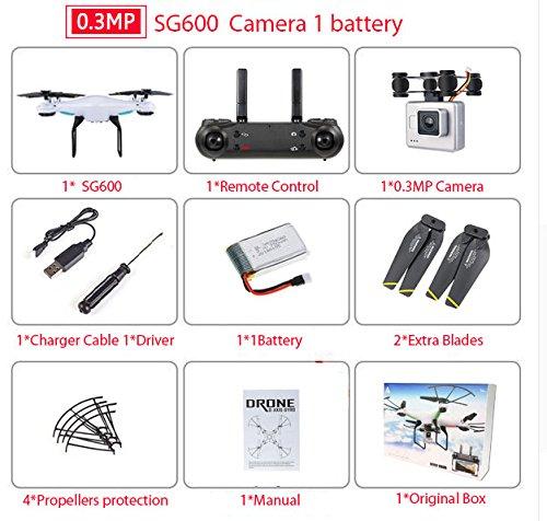 XuBa SG600 RC Drohne mit 0,3 MP oder 2 MP HD Kamera WiFi FPV Quadrocopter Auto Return Höhe Hold Headless Mode RC Hubschrauber VS xs809hw 30w Sg600 1b