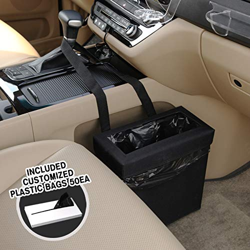 (KMMOTORS Aladdin Wastebasket Car Garbage CAN Including 50PCS Plastic Bag (Black) )