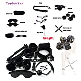 10pcs Restraint Kit Leather Luxury Handcuffs Toy