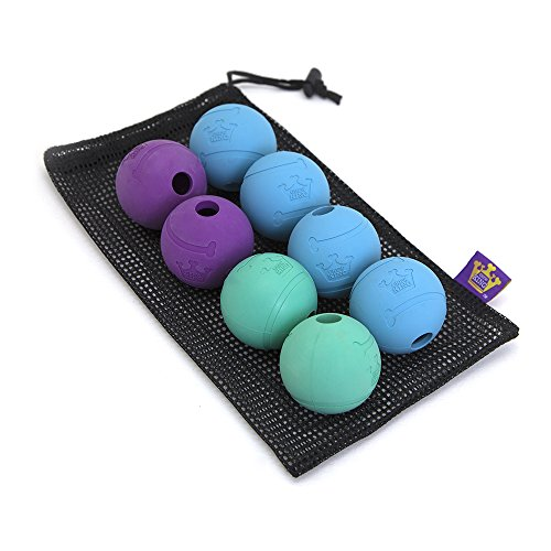 Chew King Fetch Balls Extremely Durable Natural Rubber Toy 2.5', 8-pack