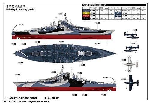 トランペッター 1/700 米海軍 コロラド級戦艦 BB-48 ウェスト・ヴァージニア 1945【並行輸入品】