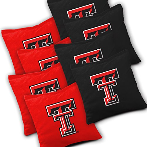 Buckeye Nation Sales Texas TECH RED Raiders Cornhole Bags Set of 8 Officially Licensed ACA Regulation Baggo Bean Bags ~ Made in The USA