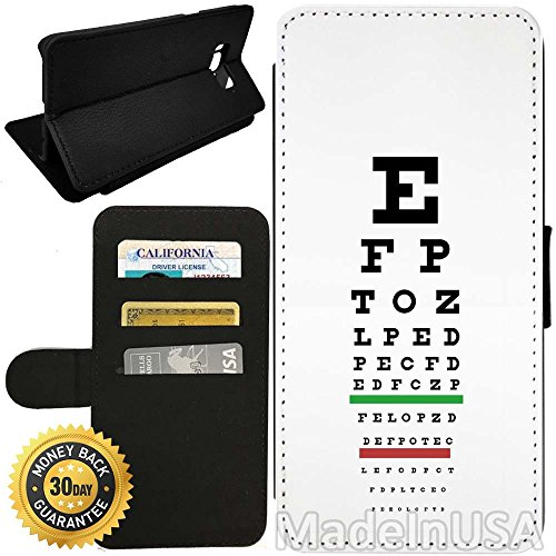 - Flip Wallet Case for Galaxy S8 Plus (Medical Eye Vision Exam Optometry Chart) with Adjustable Stand and 3 Card Holders   Shock Protection   Lightweight   by Innosub