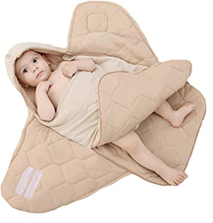 ZXYWW Sac De Couchage Bébé Couverture Ajustable en Coton Portable Sac De Couchage Bébé