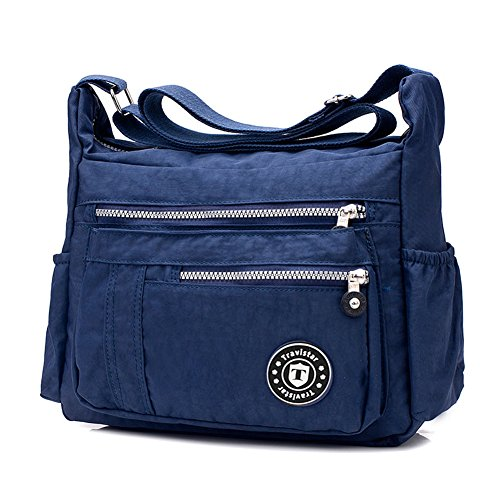 for Women Blue Travistar Purse Casual Cross Bag Handbag Messenger 062dark Bag Ladies Nylon Shoulder body zBd6wqB