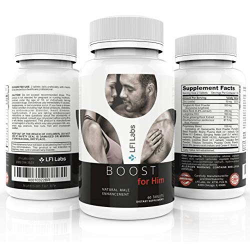 Boost For Him — Premium Enhancement Formula for Men with Tongkat Ali and Maca for a Maximum Strength Boost, Energy, Endurance | 60 Tablets by LFI Labs (Image #5)
