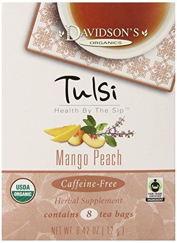 Davidson's Tea Tulsi Mango Peach, 8-Count Tea Bags (Pack of 12)