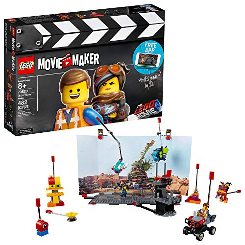 LEGO THE LEGO MOVIE 2 Movie Maker 70820 Building Kit For Kids, Build and Play Creative Director Roleplay Toy with Free Movie Maker App , New 2019 (482 Piece)