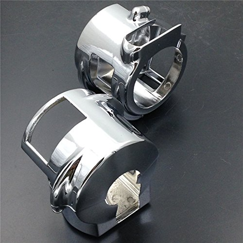 HTT Chrome Switch Housing Cover For 2002-2007 Honda VTX 1800 Models (C / R / S / F / N) with Hydraulic Clutch
