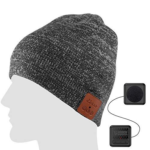 Bluetooth Beanie hat with WiFi 4.1 Wireless Smart Music Cap Hat with HD Stereo 100 Soft Acrylic Hand Free for Running Walking Fishing Outdoor Sports Houseworks Unique Christmas Birthday Gifts Gray
