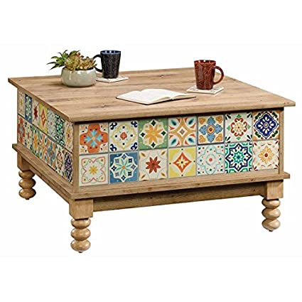 Amazon Com Pemberly Row Square Lift Top Coffee Table In Antigua
