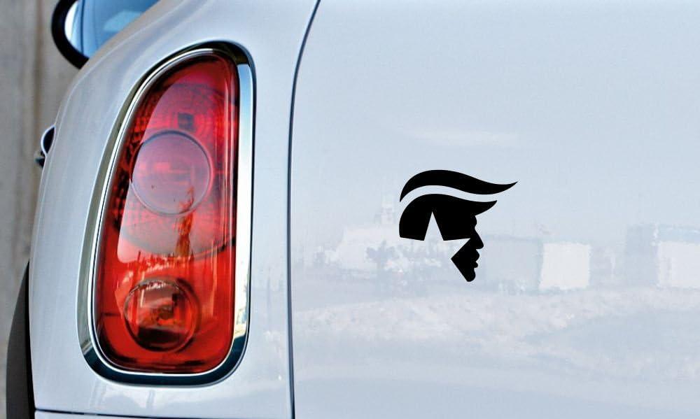 WHITE Trump Face Hair Logo Car Vinyl Sticker Decal Bumper Sticker for Auto Cars Trucks Windshield Custom Walls Windows Ipad Macbook Laptop and More