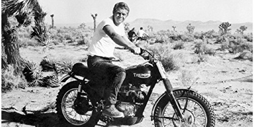 (8 x 10 Old Vintage Photo Steve-Mcqueen-Motorcycle)